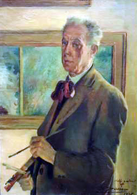 Ernst Graner, Self Portrait, Portraits of Painters, Fine arts, Portraits of painters blog, Paintings of Ernst Graner, Painter Ernst