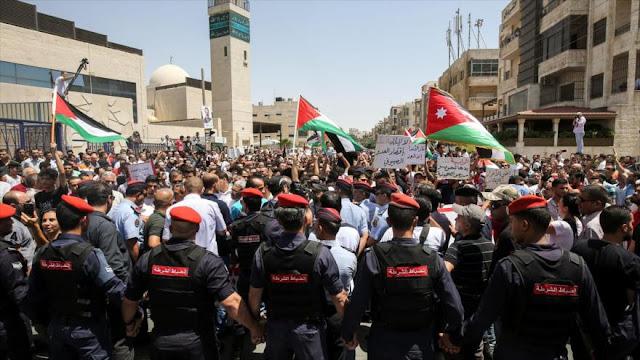 Se intensifican protestas contra Israel en Jordania