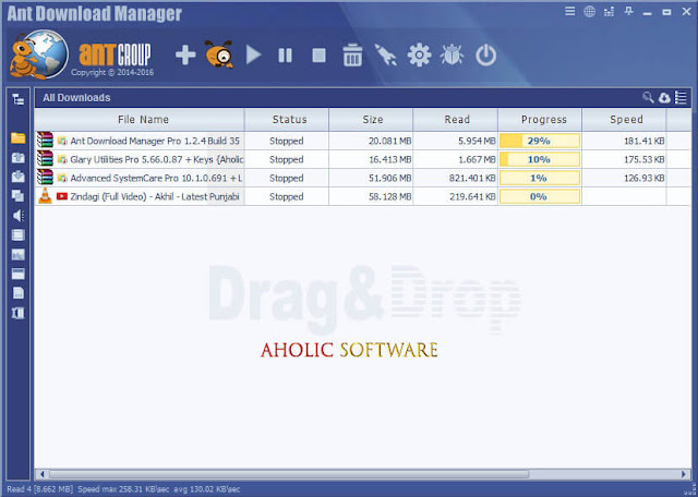 Ant Download Manager Pro is a quick downloader of internet content with video download supports.