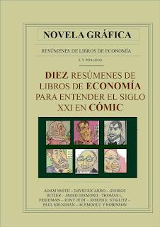 """Novela gráfica a todo color: """"Diez resúmenes de libros de Economía para entender el siglo XXI"""" (E.V.Pita, 2018)"""