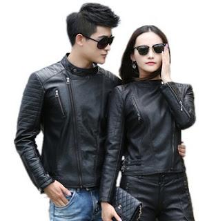 Gambar Model Jaket Kulit Sintetis Couple