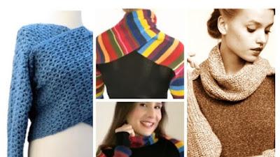 Bufanda con mangas transformación chaleco a crochet, tricot o reciclada