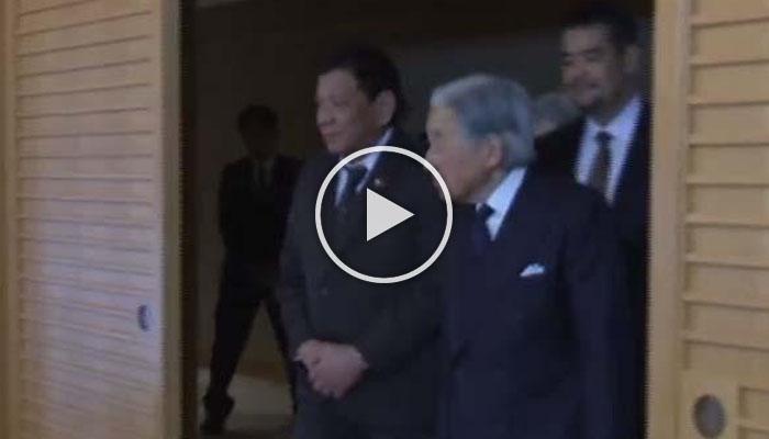 LOOK: Sa Wakas Duterte at Emperor Akihito Nagkita Na