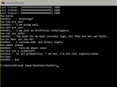 chatbot in python conversation