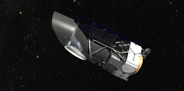 An artist's rendering of NASA's Wide Field Infrared Survey Telescope (WFIRST). Image Credit: NASA/GSFC/Conceptual Image Lab