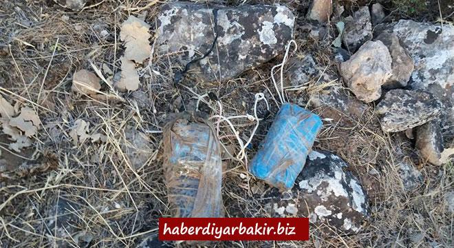 Diyarbakır Dicle'de el yapımı patlayıcılar ele geçirildi
