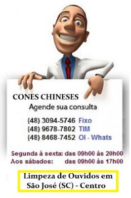 Limpeza de ouvidos com a técnica milenar dos Cones Chineses - Fazemos aplicação e Tratamento - venda do produto em São José SC - despachamos para todo o Brasil pelo Correio - Consulte-nos (48) 3094-5746