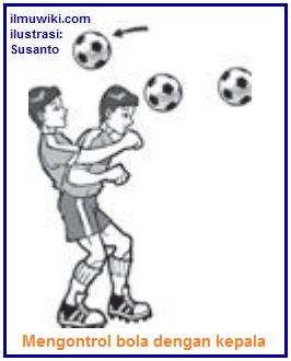 Gambar teknik dasar mengontrol bola dengan kepala