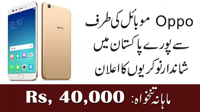Oppo Mobile Jobs in Pakistan Online Apply