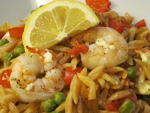 Skillet Shrimp and Orzo Pasta