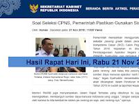 Hasil rapat hari ini di Istana Kepresidenan Bogor - Pemerintah Pastikan Gunakan Sistem Rangking