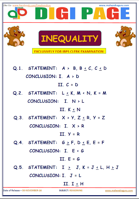 DP | INEQUALITY | 30 - NOV - 16
