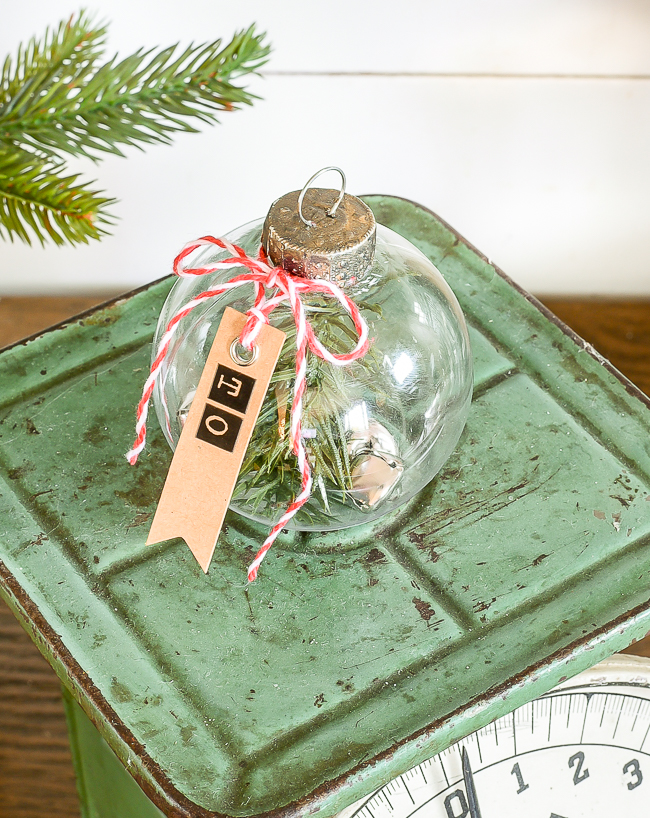 DIY Dollar Tree gift tags ornaments with greenery