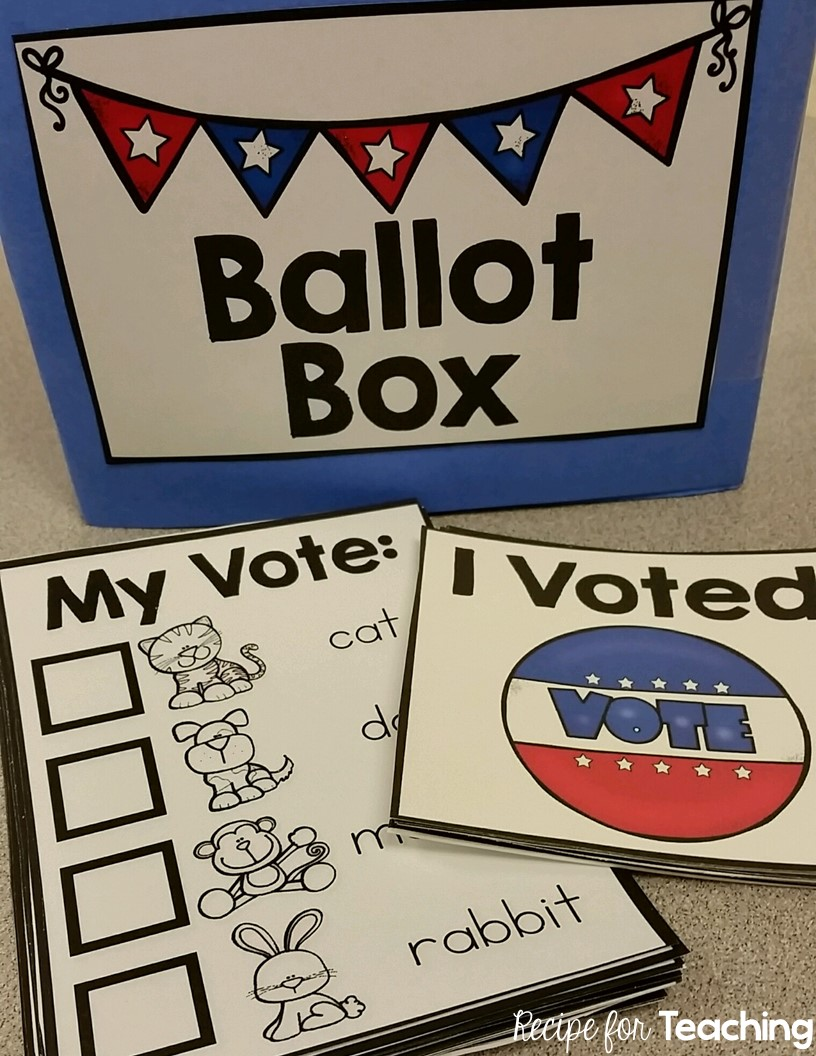 Election Day Voting Fun for Kindergarten - Recipe for Teaching