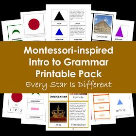 Montessori-inspired Intro to Grammar Printable Pack