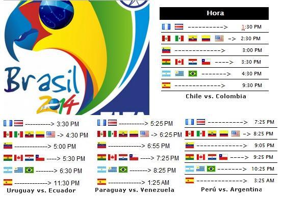 vs Argentina Uruguay vs Ecuador Chile vs Colombia Paraguay vs