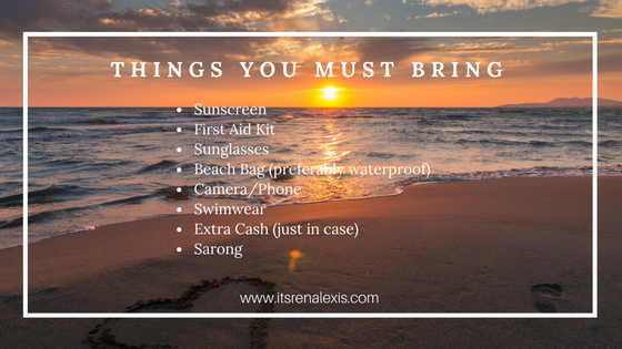 Things to bring on a beach vacation