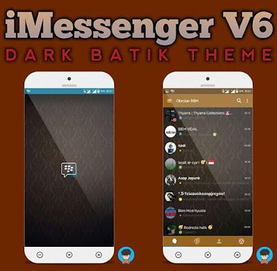 BBM Mod iMessenger V6 Series Dark Batik Theme