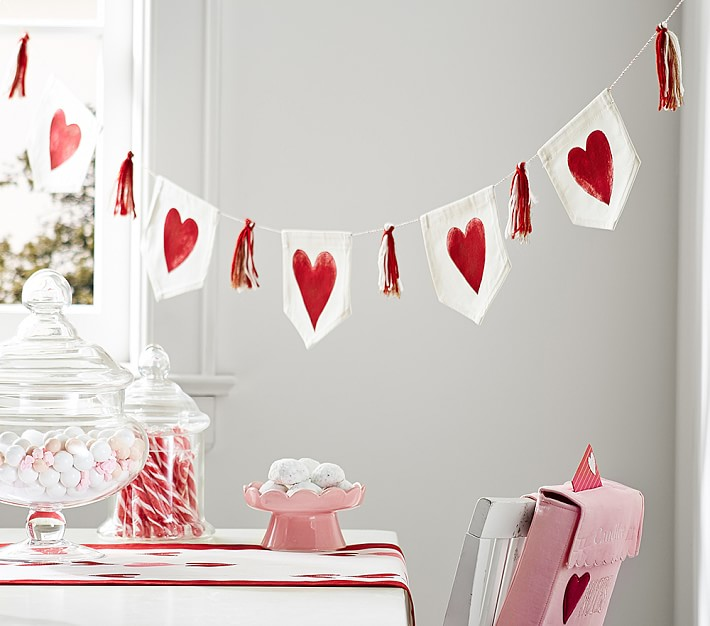 Valentine's Day Canvas Painted Garland
