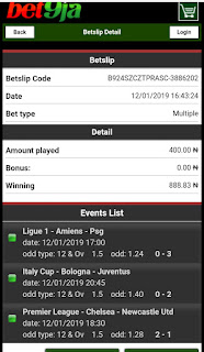 Bet9ja old mobile Betslip Code