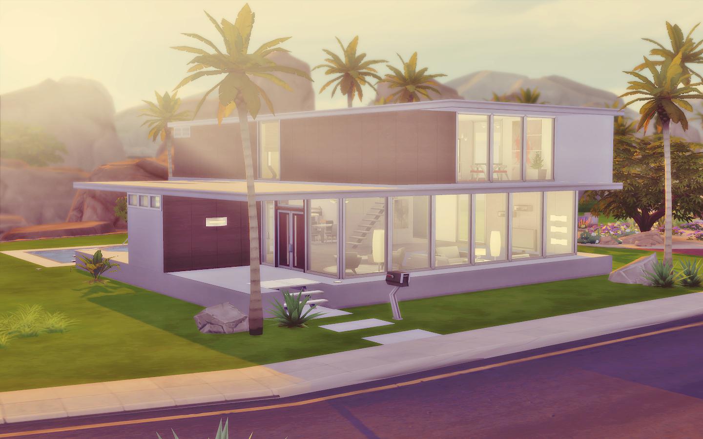 House 06 the sims 4 via sims for Planos de casas sims