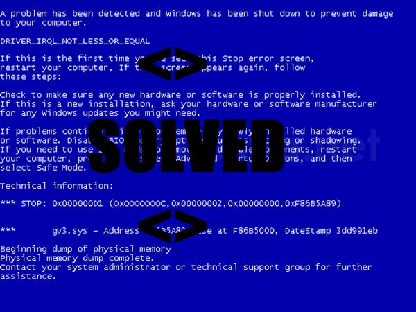 to Fix Blue Screen Error in Windows 7 2014
