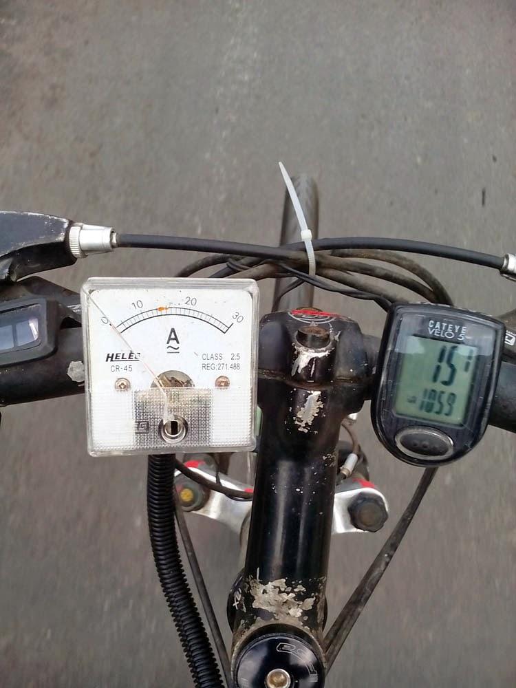 Ampermeter dan Speedo untuk pengontrol efisiensi energy