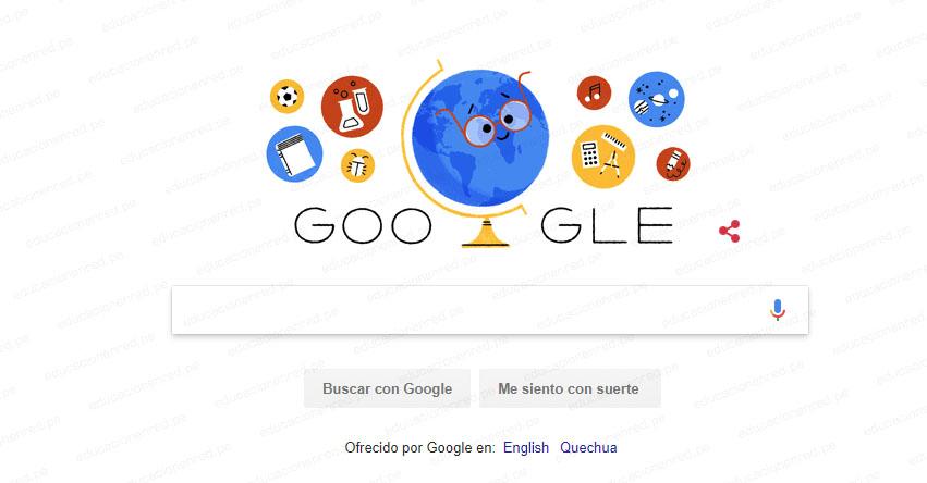 DÍA DEL MAESTRO: Google, el gigante de internet rinde homenaje con doodle animado