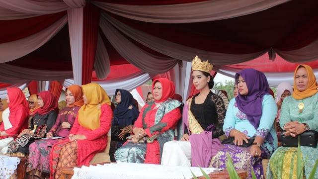 Miss Tebo Hadiri Upacara HUT RI ke 73 Dilapangan Garuda