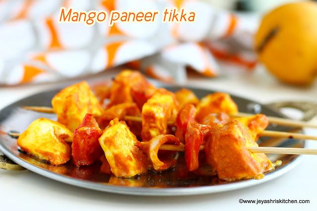 mango paneer tikka