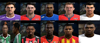 Faces: Aleksandar Pesic, brechet, Christopher Maboulou, ducourtioux, johann carasso,  Johny Placide, Ludovic Baal, Mayi, Nampalys Mendy, Ntep PES 2013