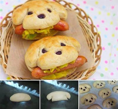 Idea para los niños : pan con forma de perros