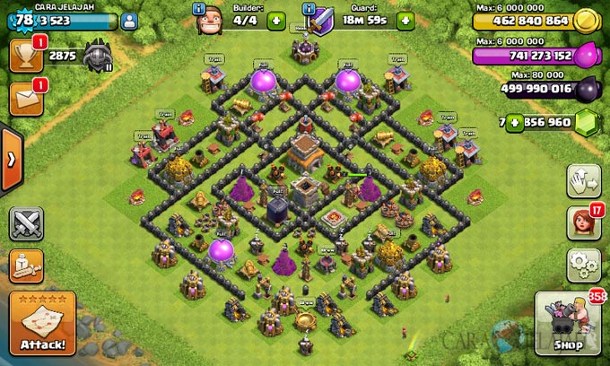 Susunan Formasi Base War TH 8 Update Terbaru 20