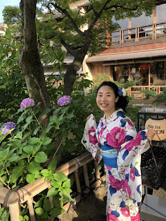 Outing in Yukata, Walking in Kyoto
