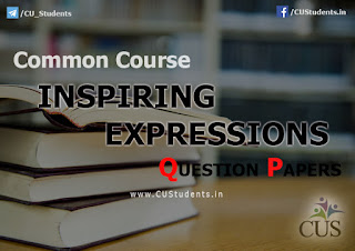 English Common Course  - Inspiring Expressions - Previous Question Papers