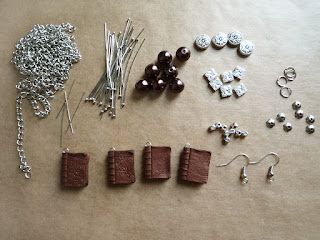 Antique Book Charm Jewelry Materials