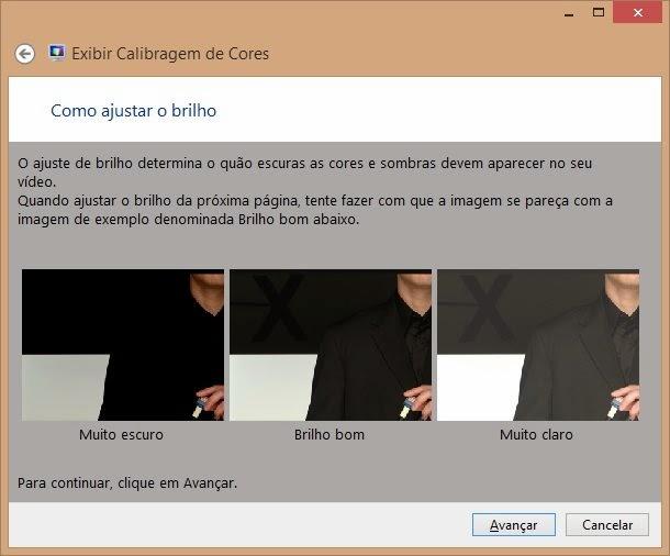 Calibragem de cores do Windows