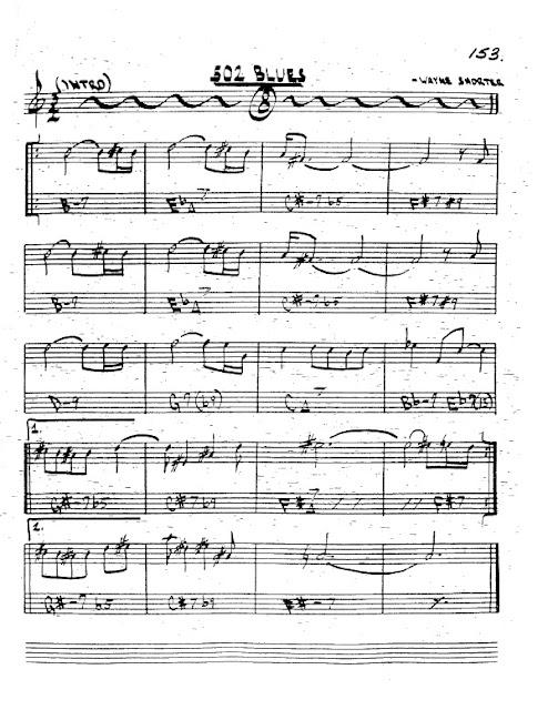 Partitura Trompeta Wayne Shorter