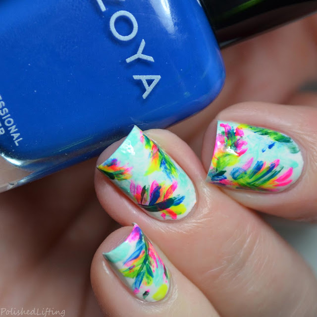tropical rainforest nail art