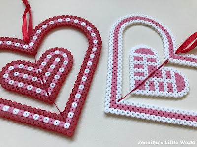 Spinning Valentine's Day Hama bead craft for children
