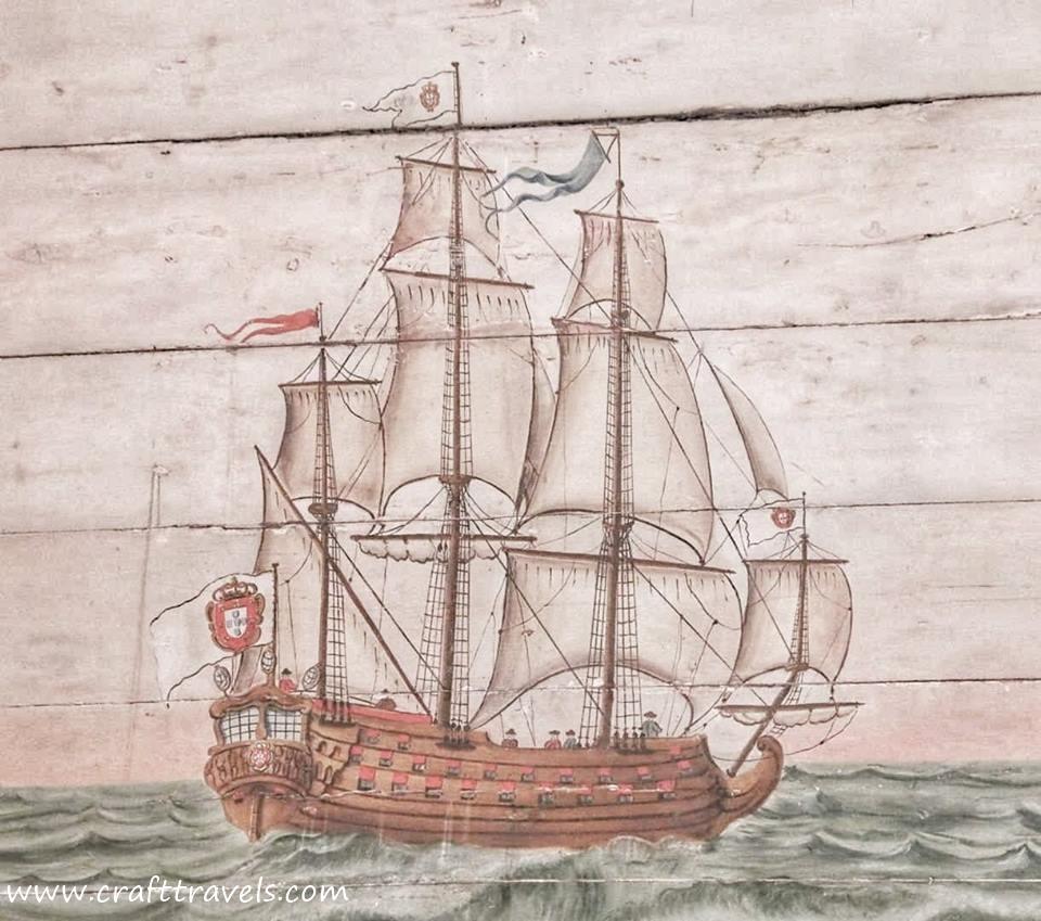 odkrycia geograficzne, portugalski statek karawela, Sintra, pałac w Sinrtrze