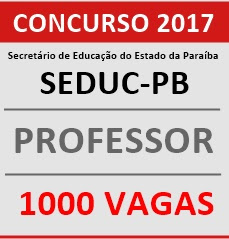 Resultado de imagem para CONCURSO PROFESSOR PB EDITAL 2017