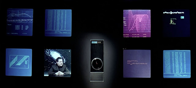 The HAL-9000 being interviewed in 2001: A Space Odyssey (1968)