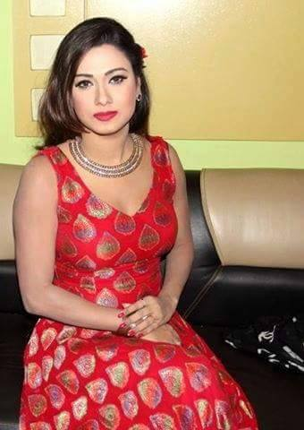 Eamin Haque Bobby Sexy In Red Dress