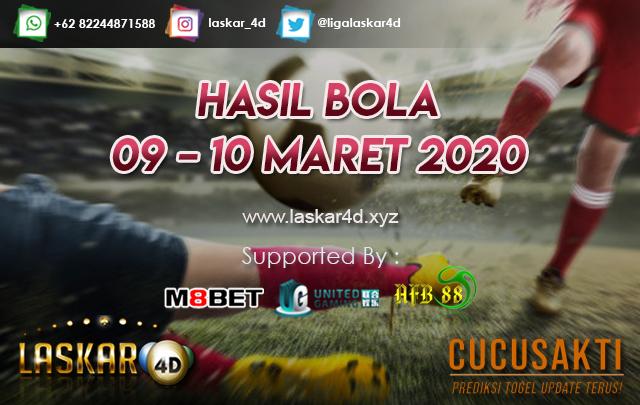 HASIL BOLA JITU TANGGAL 09 – 10 MARET 2020