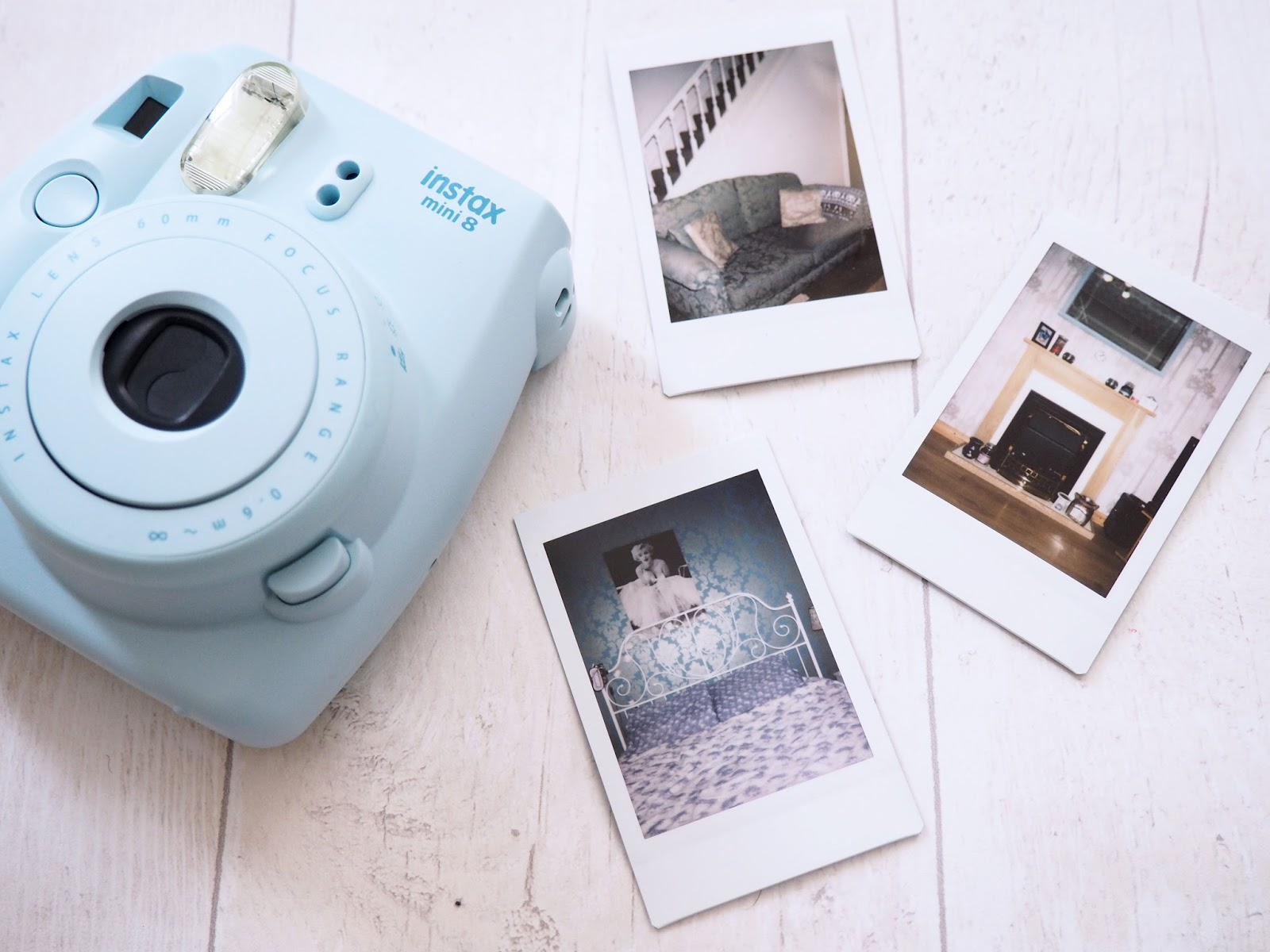 Instax Mini 8 Blue Polaroid Camera