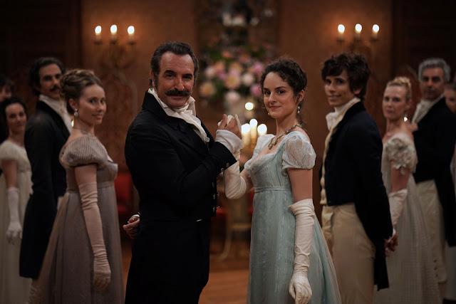 Neuville (Jean Dujardin) et Pauline (Noémie Merlant) dans Le Retour du héros