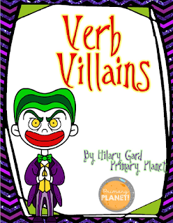 Verb Unit, teaching verbs, verb posters, verb activities, verb worksheets