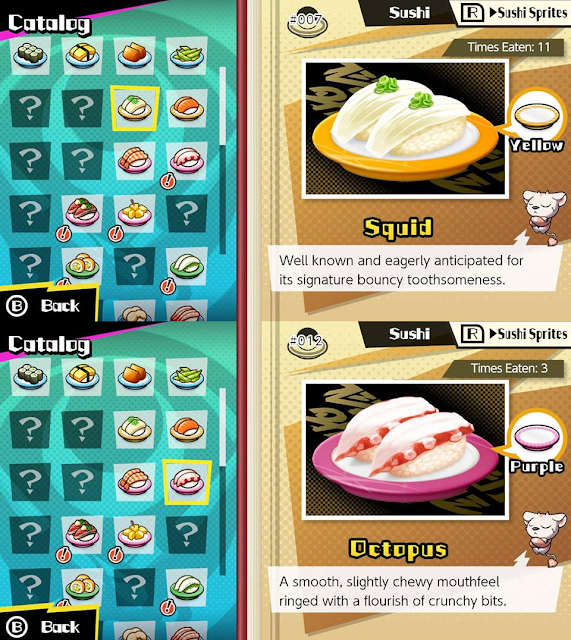 Sushi Striker The Way of Sushido squid octopus catalog