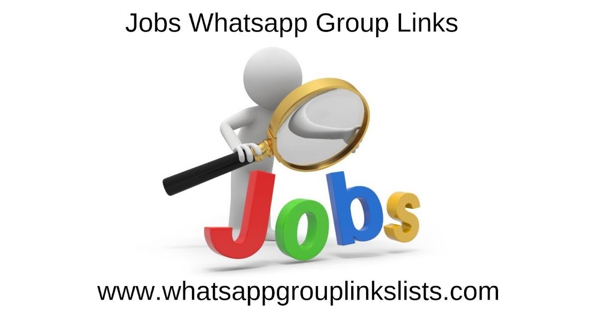 JOIN 3000+JOB WHATSAPP GROUP LINKS 2019